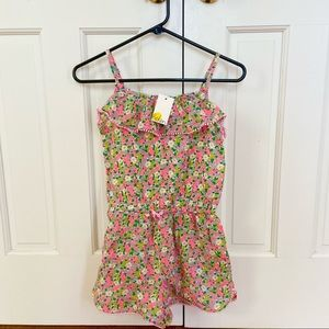 New with tags Mini Boden Floral Short Romper 11-12